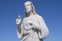 Sacred Heart of Jesus statue Stock Images