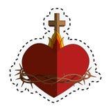 Sacred Heart of Jesus. Vector illustration design Stock Illustration