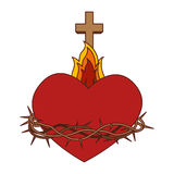 Sacred Heart of Jesus. Vector illustration design Royalty Free Stock Photography