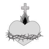 Sacred Heart of Jesus. Vector illustration design Royalty Free Stock Photos