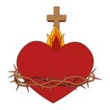 Sacred Heart of Jesus. Vector illustration design Stock Images