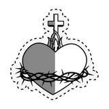 Sacred Heart of Jesus. Vector illustration design Royalty Free Stock Images