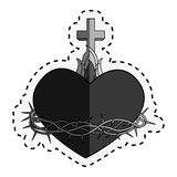 Sacred Heart of Jesus. Vector illustration design Stock Photos
