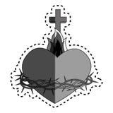 Sacred Heart of Jesus. Vector illustration design Stock Image