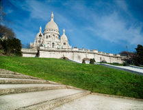 Sacred Heart in Montmartre - Paris - France Royalty Free Stock Photo