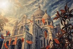 Sacred heart in Paris royalty free stock images
