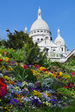 Sacred Heart Sacre Coeur Church in Montmartre Royalty Free Stock Image