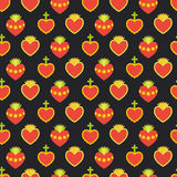 Sacred heart  seamless pattern Stock Photo