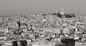 Sacred Heart at the summit of Montmartre, Paris Stock Images