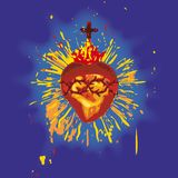 Sacred Heart (vector) Stock Images