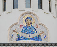 Virgin Mary mosaic icon. Stock Photography