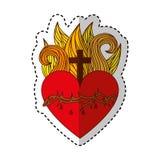 Sacred jesus heart icon Stock Photo