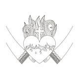 Sacred jesus heart icon Royalty Free Stock Photos