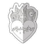 Sacred jesus heart icon Stock Photography