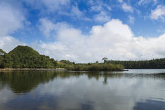 Sacred lake Grand Bassin of Mauritius Stock Photos