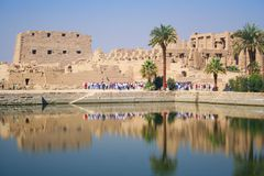 SACRED LAKE IN KARNAK Royalty Free Stock Images