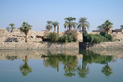 Sacred lake in Karnak. Stock Images