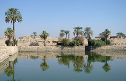 Sacred lake in Karnak. Stock Image