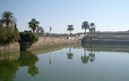 Sacred lake in Karnak. Stock Photo