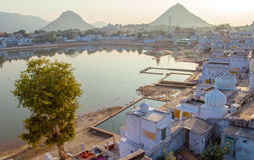 Sacred lake in Pushkar, Rajasthan, India Royalty Free Stock Photography