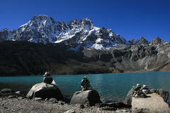 The Sacred lakes in Gokyo Royalty Free Stock Photos