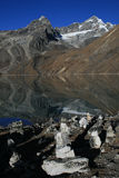 The Sacred lakes in Gokyo Stock Photography