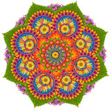 Sacred Lotus mandala symbol Royalty Free Stock Images