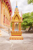 Sacred marker spheres house surrounding Thai Buddhist Church Stock Photography