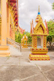 Sacred marker spheres house surrounding Thai Buddhist Church Royalty Free Stock Images