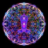 Sacred meditation abstract colorful mandala illustration royalty free illustration