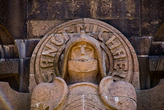 Sacred Michael. Monument to fight of the people a face of the soldier of all times and the people Sacred Michael Stock Image