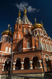 Sacred Mikhaylovsky Cathedral. Sacred Mikhaylovsky the Cathedral being in the city of Izhevsk Royalty Free Stock Photography