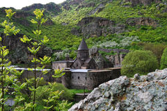 Sacred Monastery of Geghard in Armenia Stock Photo