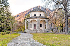 Sacred Mount Calvary of Domodossola, Italy. Sacred Mount Calvary of Domodossola, is a Roman Catholic sanctuary on the Mattarella Hill, Piedmont, Italy Royalty Free Stock Image