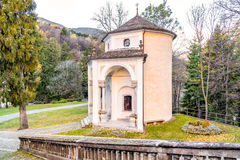 Sacred Mount Calvary of Domodossola, Italy. Sacred Mount Calvary of Domodossola, is a Roman Catholic sanctuary on the Mattarella Hill, Piedmont, Italy Royalty Free Stock Photography