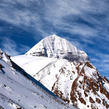 Sacred mount Kailash (elevation 6638 m), which are part of the T. Ranshimalaya in Western Tibet. It is considered a sacred place in four religions: Bon, Buddhism Stock Photos