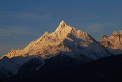 Sacred mountain of  Kawagebo. Kawagebo,or  Meili Snow-Mountain in Deqin,Yunnan Province,China Stock Photography