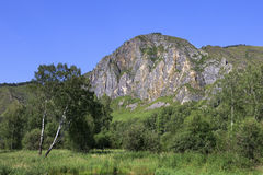 Sacred Mountain Shaman Stone. Barlaksky karstic Royalty Free Stock Photo
