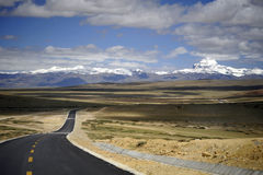 Sacred mountain in Tibet - Mount Kailash. Sacred mountain in Tibet, and Babel Road Stock Image