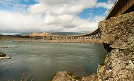 Dalles Bridge over the Columbia River Connecting Washington and Stock Images
