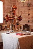Sacred objects in the church Stock Photos