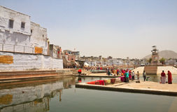 A sacred place for indusov- city and the lake of Pushkar, India Royalty Free Stock Images