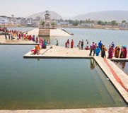 A sacred place for indusov- city and the lake of Pushkar, India Royalty Free Stock Photography
