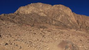 Sacred place - Moses Mountain. Sinai Peninsula. Egypt stock video footage