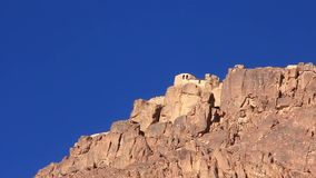 Sacred place - Moses Mountain. Sinai Peninsula. Egypt stock video