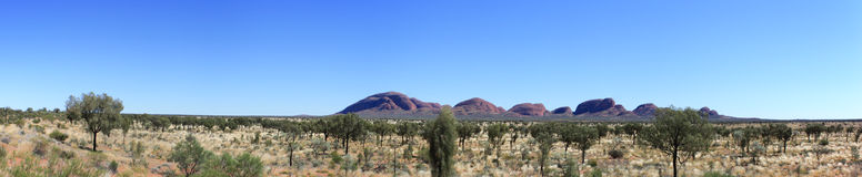 Sacred Place Uluru Panorama Royalty Free Stock Photography
