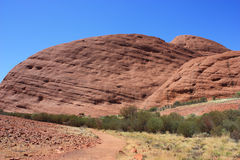 Sacred Place Uluru Panorama Royalty Free Stock Photos
