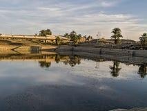 Sacred pond Amon-Ra Stock Photos