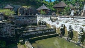 Sacred pool at Goa Gajah ancient temple Royalty Free Stock Photo