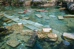 The Sacred Pool in Pamukkale, Turkey Royalty Free Stock Photo